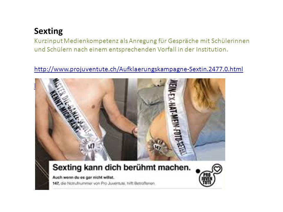Sexting Kurzinput Medienkompetenz als Anregung für Gespräche mit Schülerinnen und Schülern nach einem entsprechenden Vorfall in der Institution.