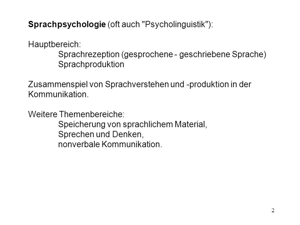 3 Sprache = generatives Zeichensystem: begrenztes Repertoire von Wörtern, unbegrenzte Anzahl von Sätzen..