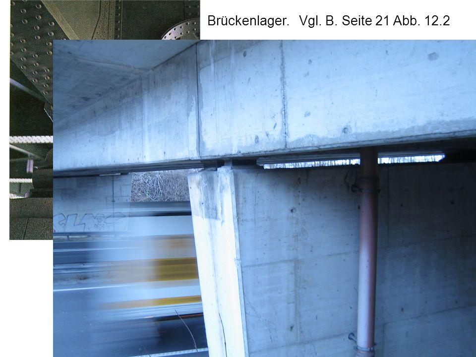 Brückenlager. Vgl. B. Seite 21 Abb. 12.2