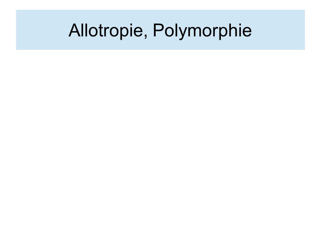 Allotropie, Polymorphie