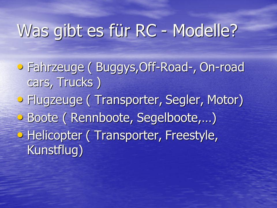 Um was geht es genau. Mit der Fernbedienung sein RC(Radio Control ) Modell zu steuern.