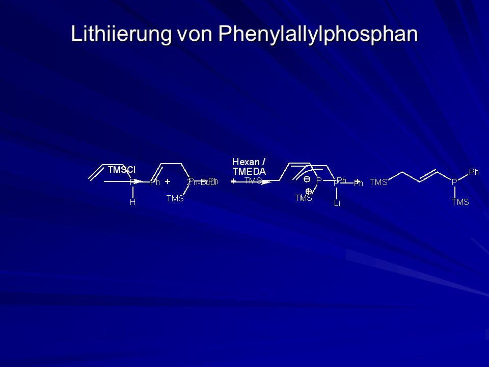 Lithiierung von Phenylallylphosphan