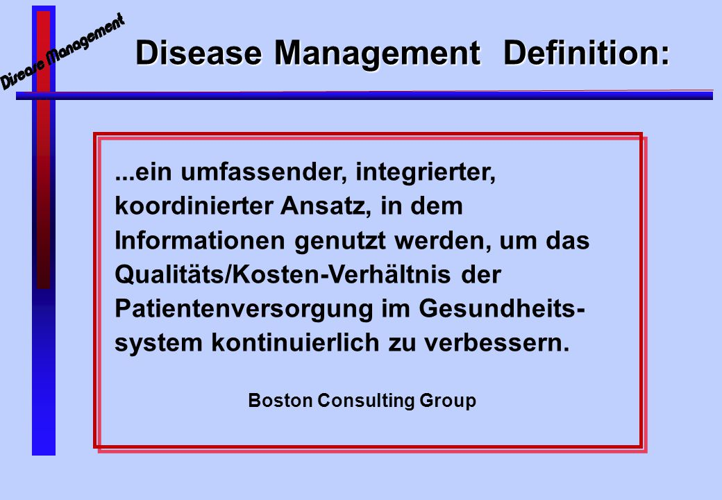 The new Battleground ? Disease Management
