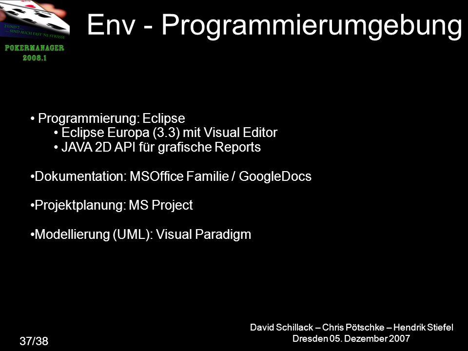 Env - Programmierumgebung David Schillack – Chris Pötschke – Hendrik Stiefel Dresden 05.