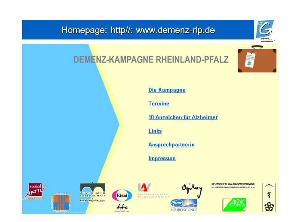16 Homepage: http//: www.demenz-rlp.de