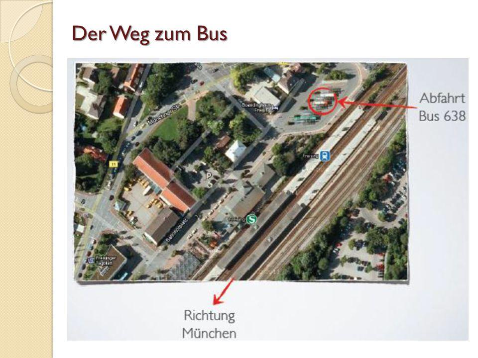 Der Weg zum Bus