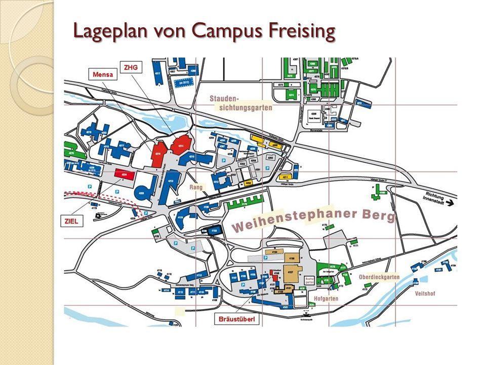 Lageplan von Campus Freising