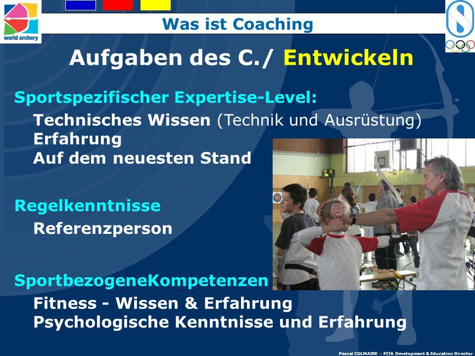 Aufgaben des Coaches/ Umgebung Sozial: Integration Team building Animator Spass: Freudvolle Unterrichtseinheiten Administration der menschlichen Resou