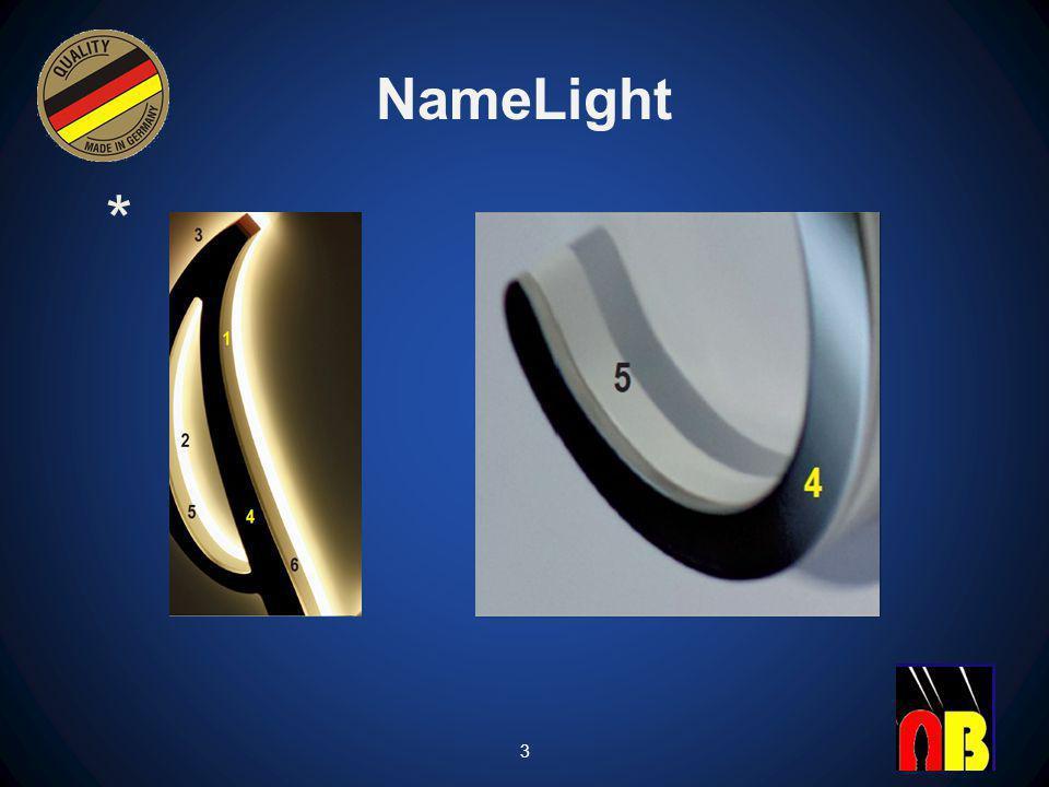 NameLight 5 Kanten der Leuchtobjekte Die Kanten der Leuchtobjekte können verschieden ausgeführt werden.