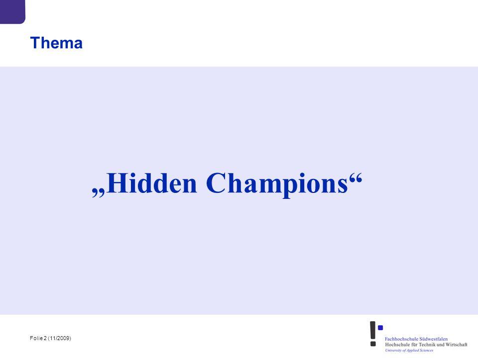 "Folie 2 (11/2009) Thema ""Hidden Champions"""