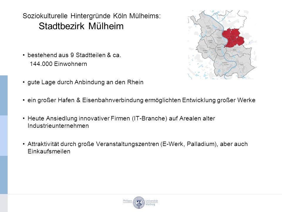 bestehend aus 9 Stadtteilen & ca. 144.000 Einwohnern gute Lage durch Anbindung an den Rhein ein großer Hafen & Eisenbahnverbindung ermöglichten Entwic