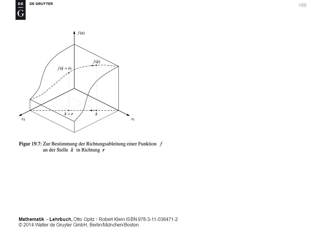 Mathematik ‒ Lehrbuch, Otto Opitz / Robert Klein ISBN 978-3-11-036471-2 © 2014 Walter de Gruyter GmbH, Berlin/Mu ̈ nchen/Boston 166
