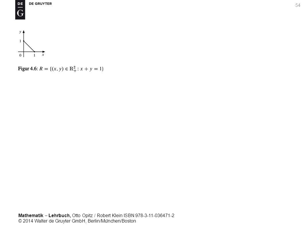 Mathematik ‒ Lehrbuch, Otto Opitz / Robert Klein ISBN 978-3-11-036471-2 © 2014 Walter de Gruyter GmbH, Berlin/Mu ̈ nchen/Boston 54