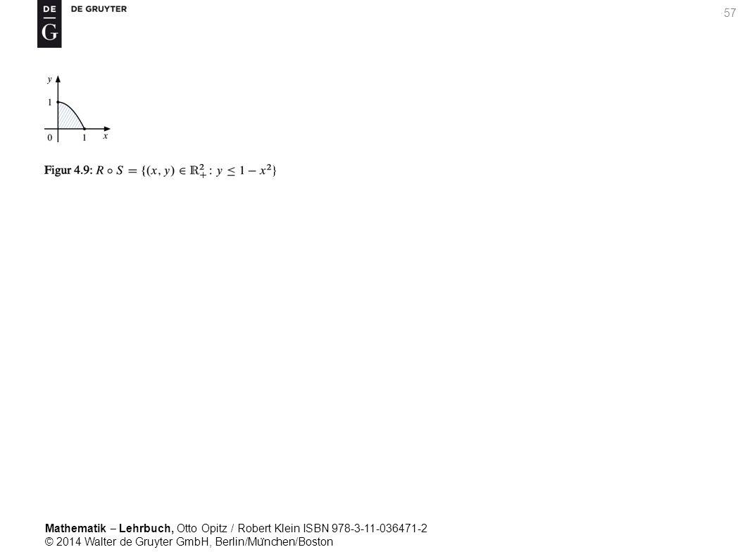 Mathematik ‒ Lehrbuch, Otto Opitz / Robert Klein ISBN 978-3-11-036471-2 © 2014 Walter de Gruyter GmbH, Berlin/Mu ̈ nchen/Boston 57