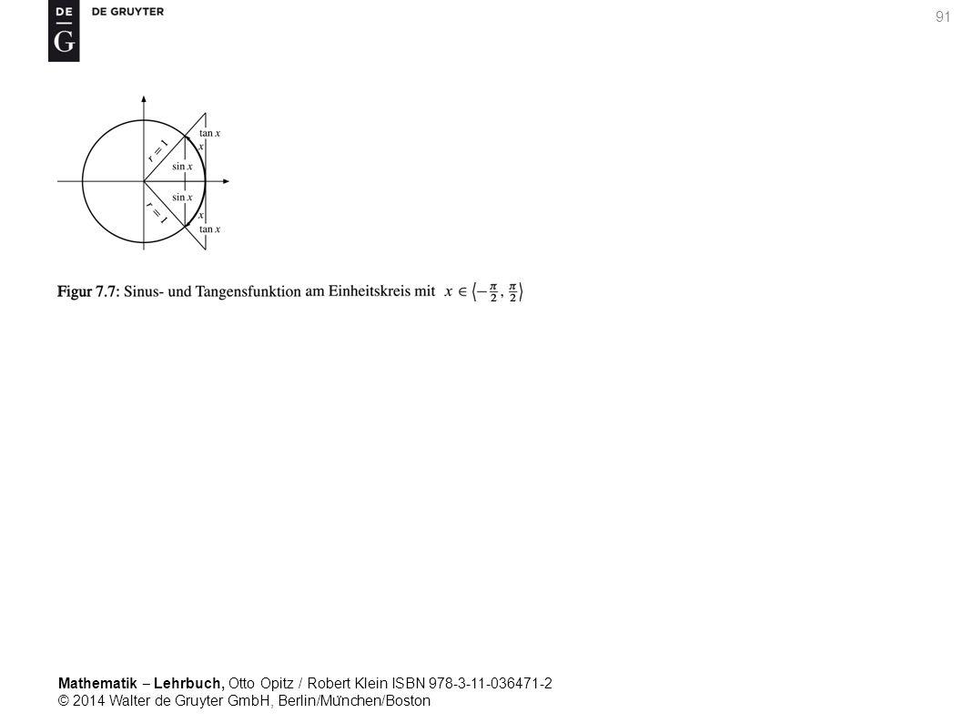 Mathematik ‒ Lehrbuch, Otto Opitz / Robert Klein ISBN 978-3-11-036471-2 © 2014 Walter de Gruyter GmbH, Berlin/Mu ̈ nchen/Boston 91
