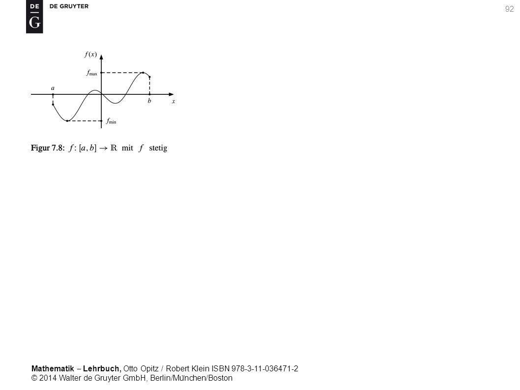 Mathematik ‒ Lehrbuch, Otto Opitz / Robert Klein ISBN 978-3-11-036471-2 © 2014 Walter de Gruyter GmbH, Berlin/Mu ̈ nchen/Boston 92