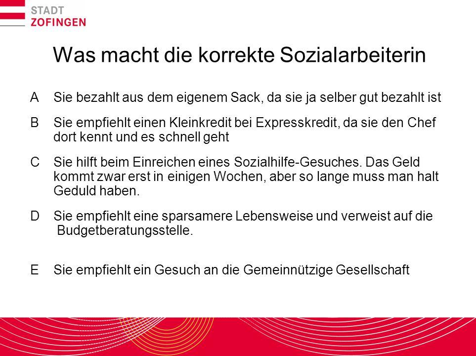 Soziale Sicherung in der Schweiz Grundrecht auf Hilfe in Notlagen Art.