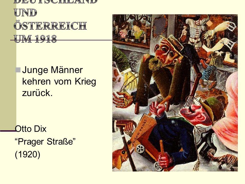 """Junge Männer kehren vom Krieg zurück. Otto Dix """"Prager Straße"""" (1920)"""
