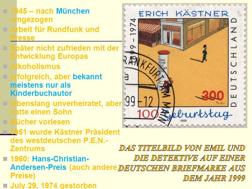1945 – nach München umgezogen Arbeit für Rundfunk und Presse Später nicht zufrieden mit der Entwicklung Europas Alkoholismus erfolgreich, aber bekannt