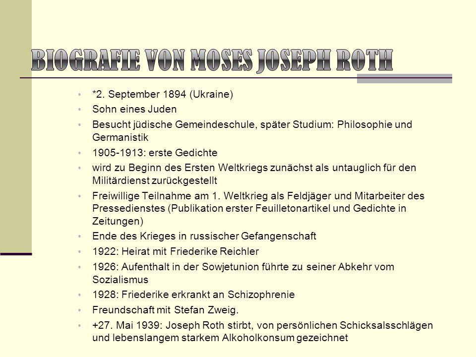 *2. September 1894 (Ukraine) Sohn eines Juden Besucht jüdische Gemeindeschule, später Studium: Philosophie und Germanistik 1905-1913: erste Gedichte w