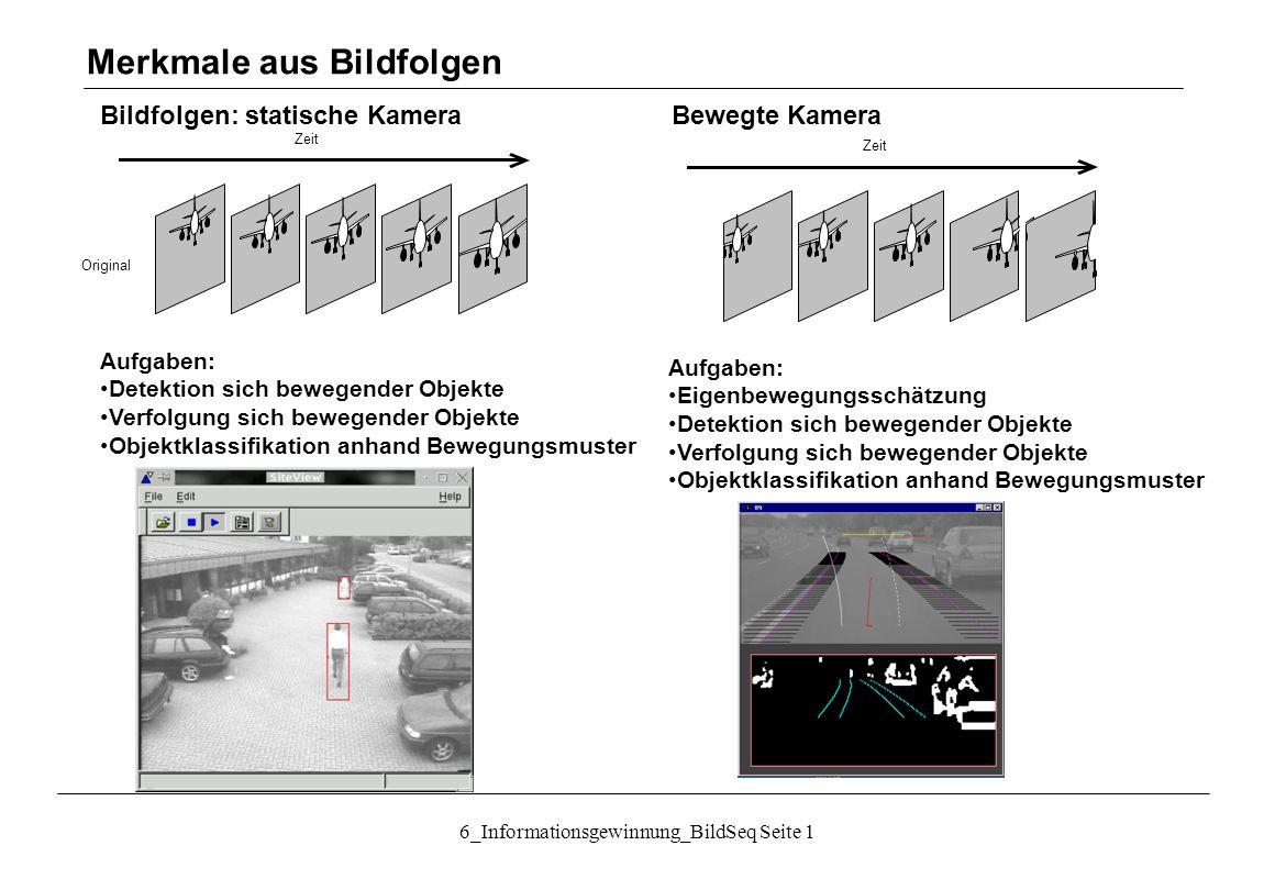 """6_Informationsgewinnung_BildSeq Seite 12 Bildfolgen: Kamera-Bewegungsschätzung Bildstabilisierung (""""Wackelkompensation ): Anwendung z."""