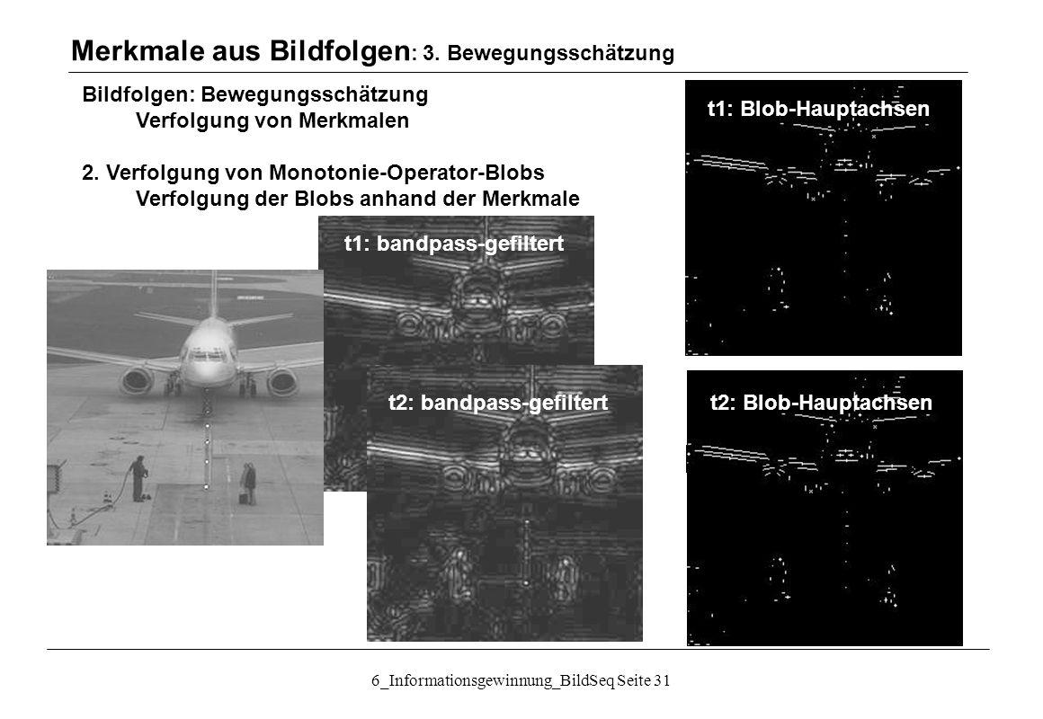 6_Informationsgewinnung_BildSeq Seite 31 Bildfolgen: Bewegungsschätzung Verfolgung von Merkmalen 2.