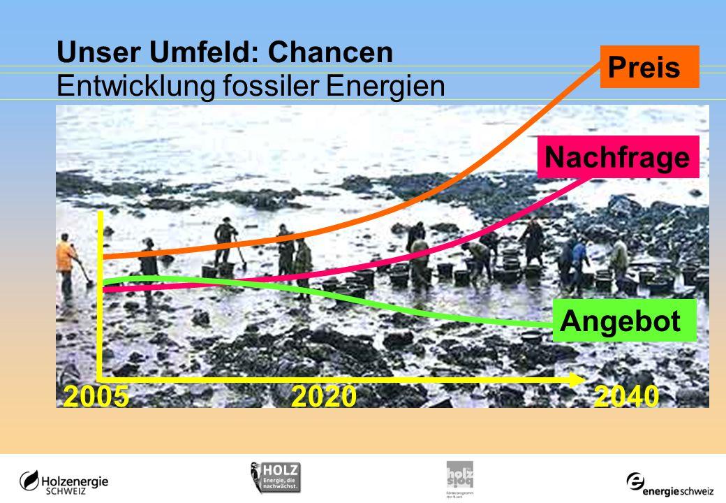Unser Umfeld: Chancen Entwicklung fossiler Energien Angebot 204020052020 Preis Nachfrage
