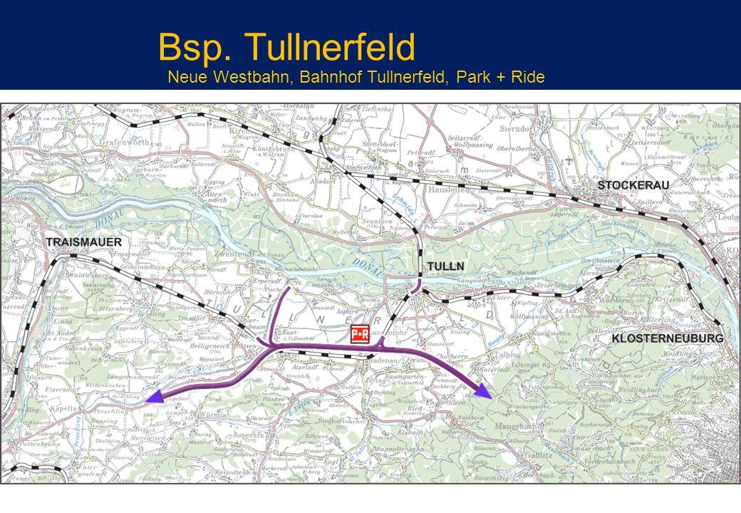 Neue Westbahn, Bahnhof Tullnerfeld, Park + Ride