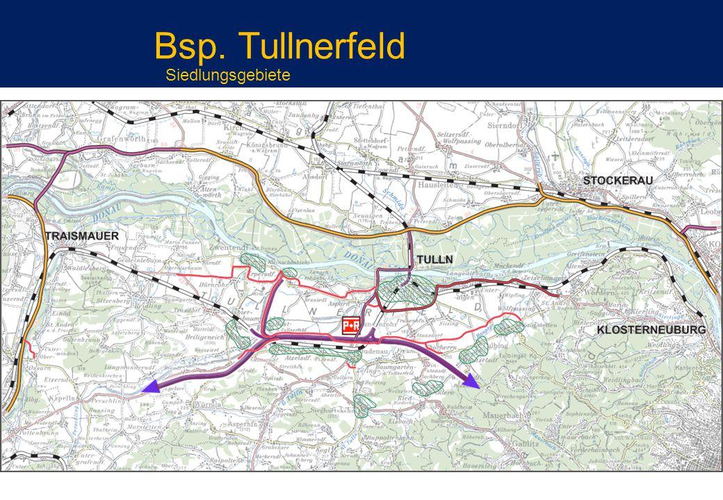 Bsp. Tullnerfeld Siedlungsgebiete
