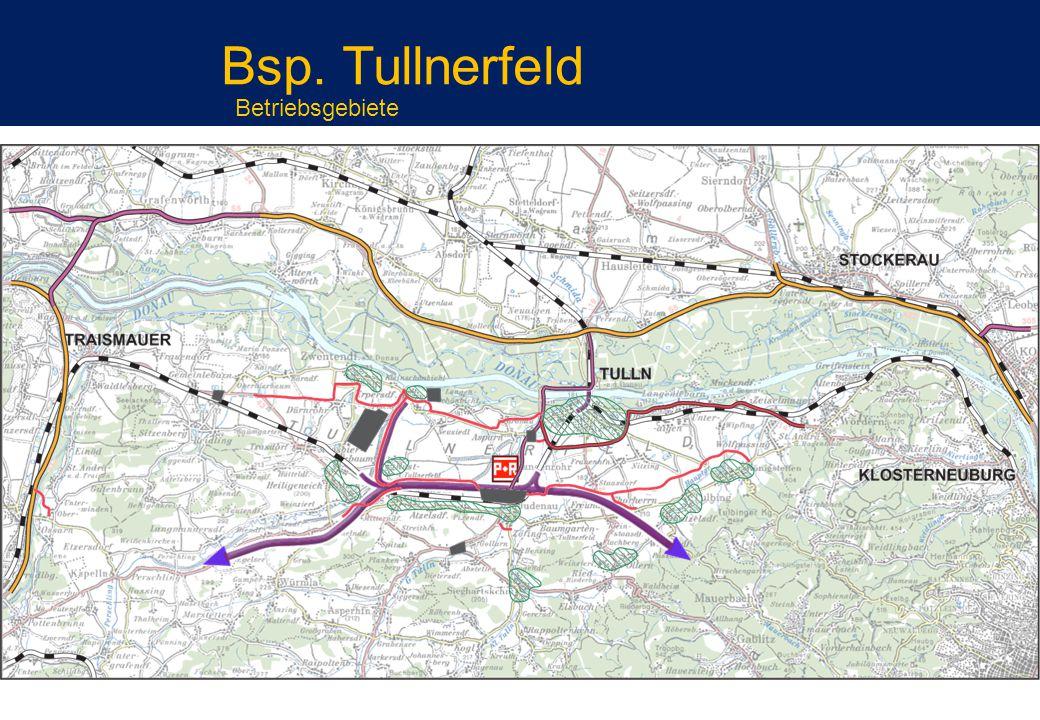 Bsp. Tullnerfeld Betriebsgebiete