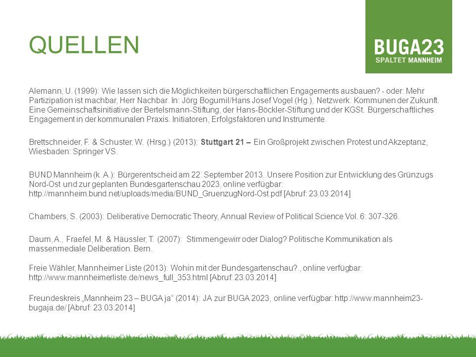 Alemann, U.(1999): Wie lassen sich die Möglichkeiten bürgerschaftlichen Engagements ausbauen.