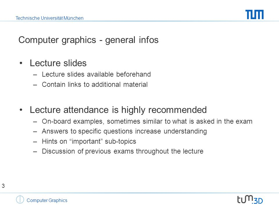 Technische Universität München Computer Graphics Image synthesis – hidden line removal 14
