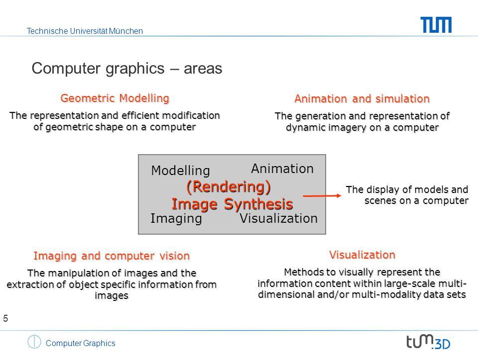 Technische Universität München Computer Graphics Photorealistic image synthesis Algorithms for image synthesis, i.e.