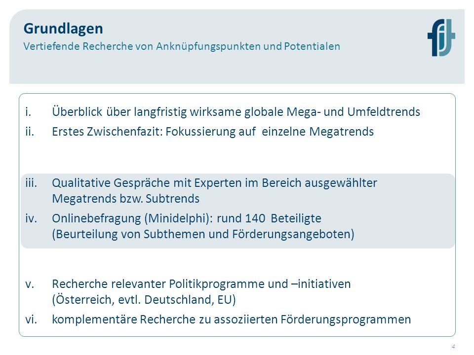 5 Status quo Healthy Aging & Assisted Living  In der Steiermark bestehen besondere Kompetenzen im Bereich der (epidemologischen Forschung zu) altersbedingten Erkrankungen, einzelne techn.