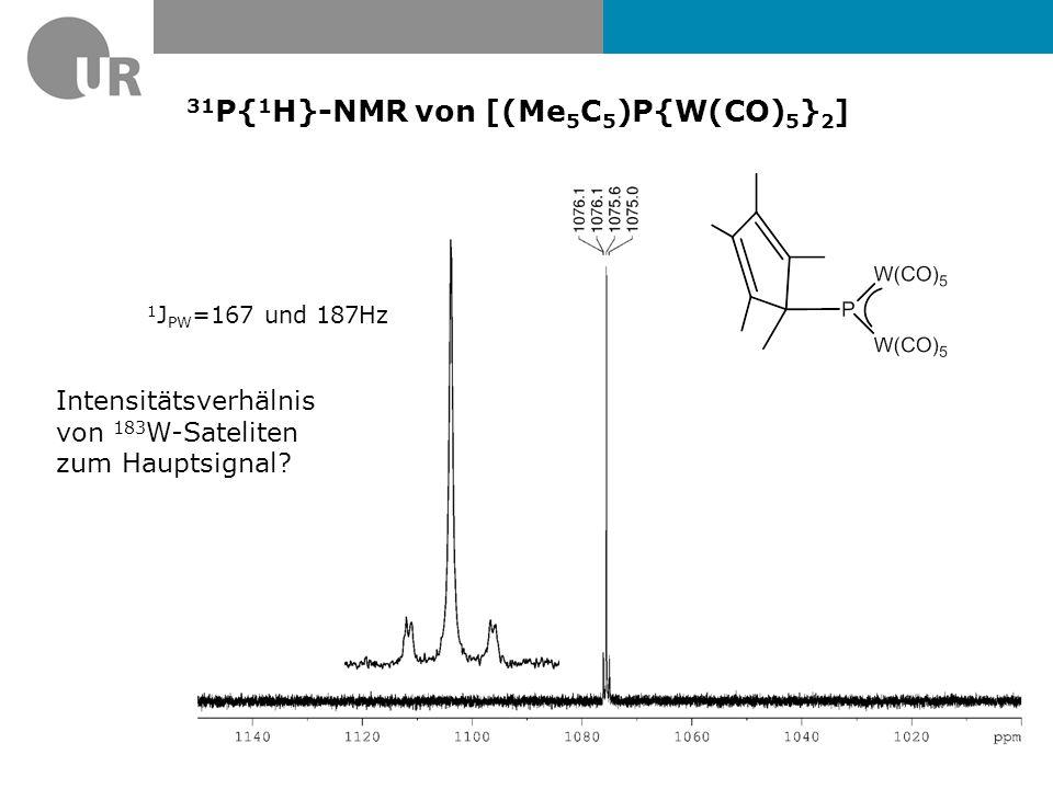 Resonanzstrukturen von [(Me 5 C 5 )P{W(CO) 5 } 2 ]
