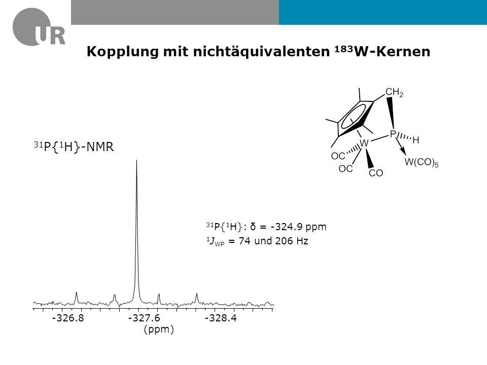31 P-NMR-Spektrum von s MesP=P s Mes  Singulett bei δ = 473.9 ppm