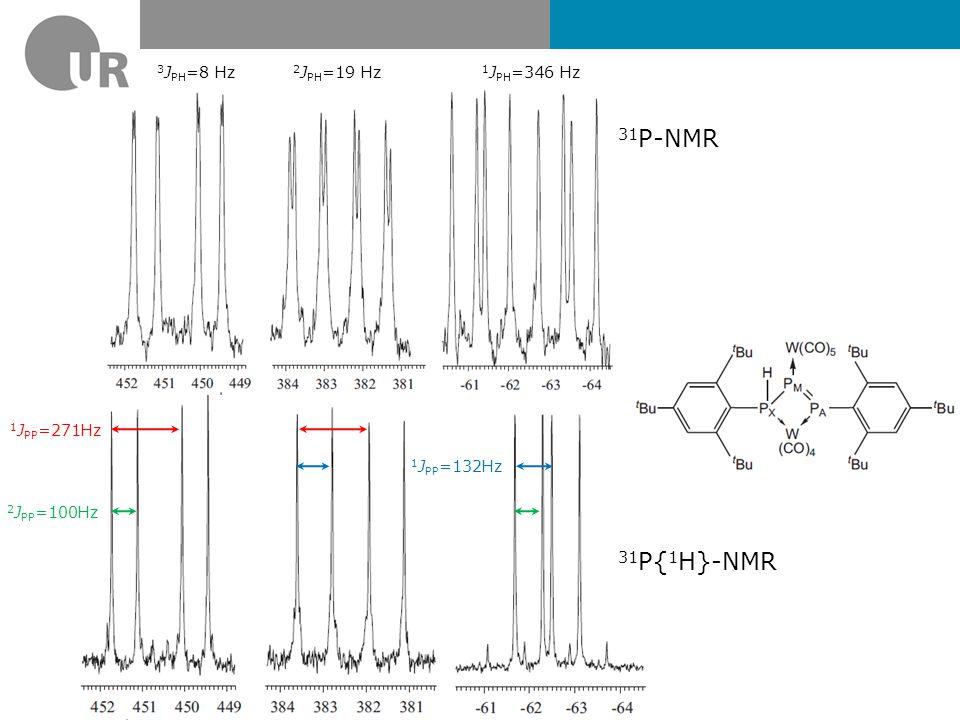 31 P-NMR-Spektrum von [(N 3 N)WP] δ = 1082 ppm 1 J WP =136 Hz