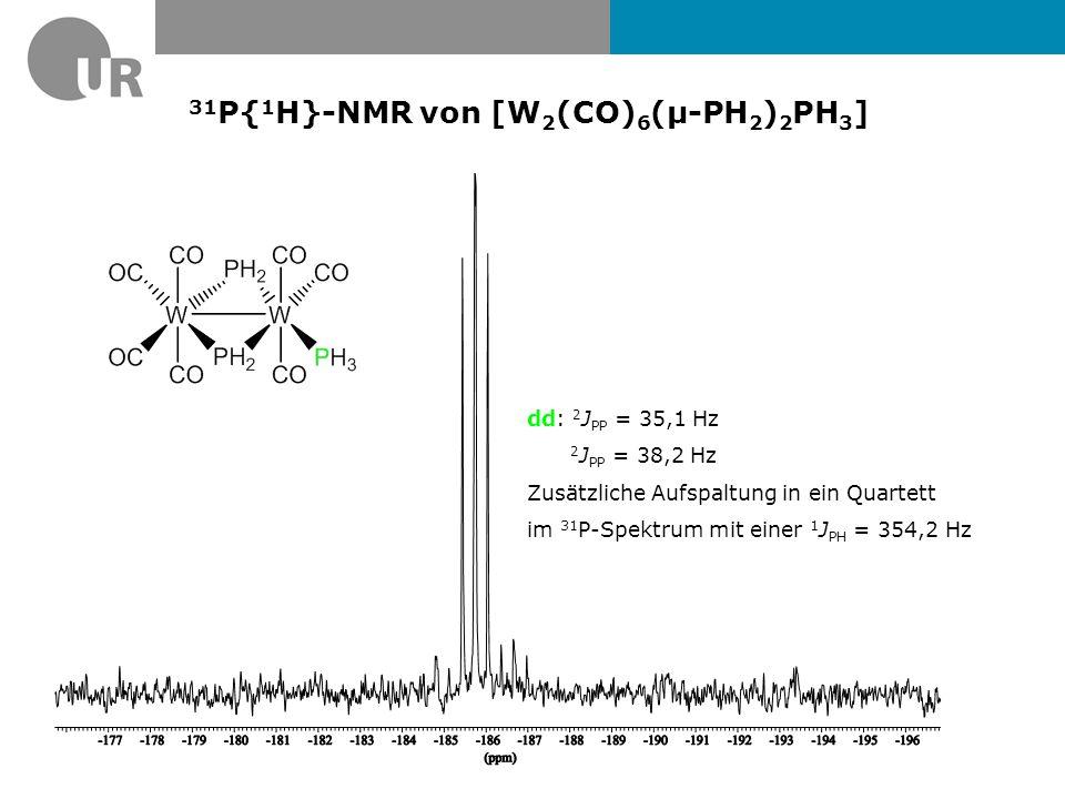 δ = 5.5 ppmδ = -9.5 ppm 183 W-Sateliten * * * * * * * *