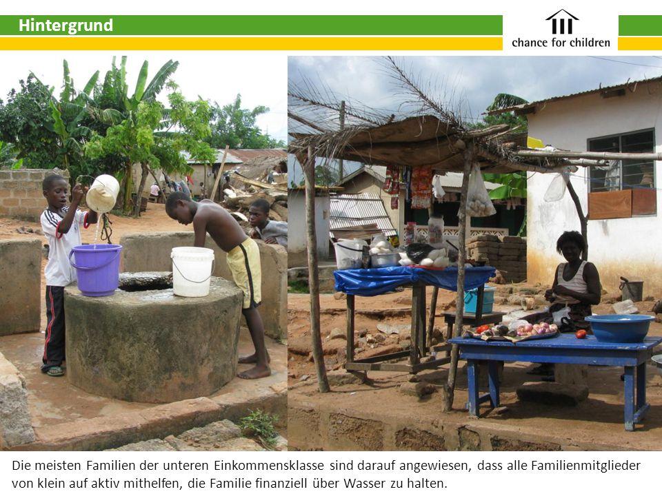 Die meisten Familien der unteren Einkommensklasse sind darauf angewiesen, dass alle Familienmitglieder von klein auf aktiv mithelfen, die Familie finanziell über Wasser zu halten.