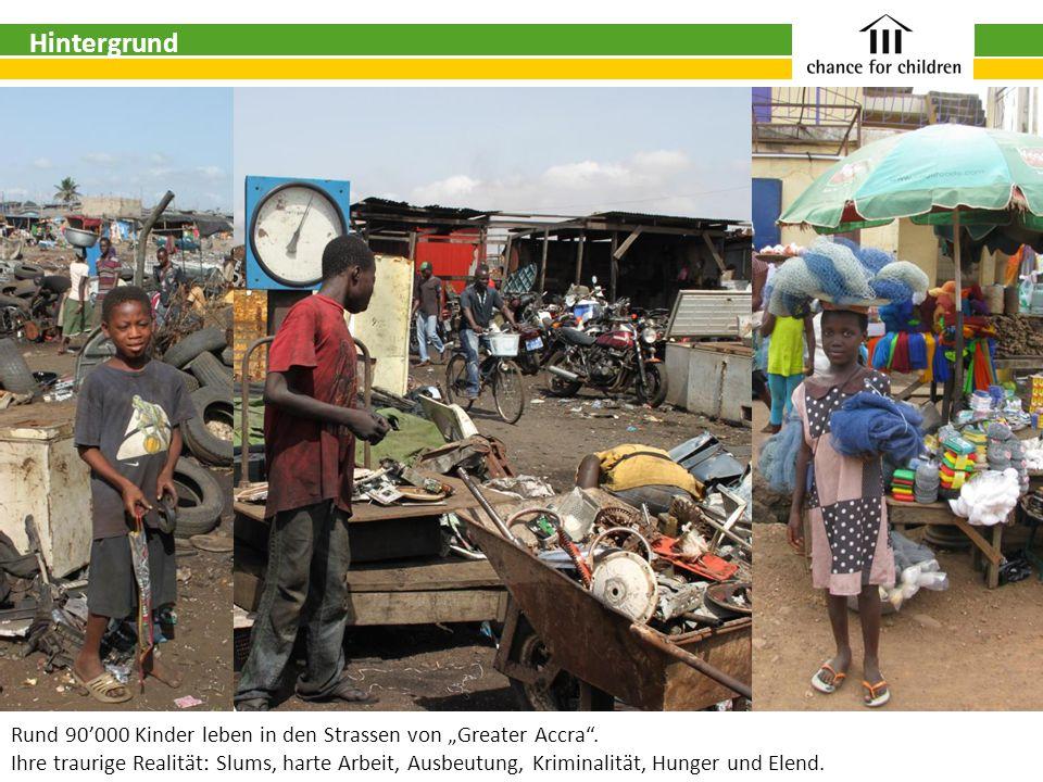"""Rund 90'000 Kinder leben in den Strassen von """"Greater Accra ."""