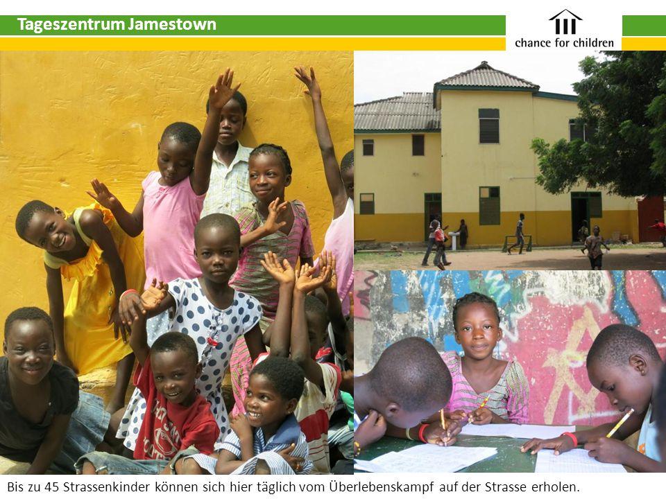 Tageszentrum Jamestown Bis zu 45 Strassenkinder können sich hier täglich vom Überlebenskampf auf der Strasse erholen.