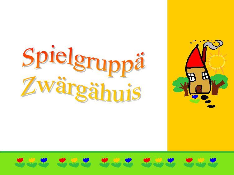 Allgemeines zur Spielgruppä Zwärgähuis Die Spielgruppe Zwärgähuis Wolfenschiessen betreut jährlich bis zu 50 Kinder.