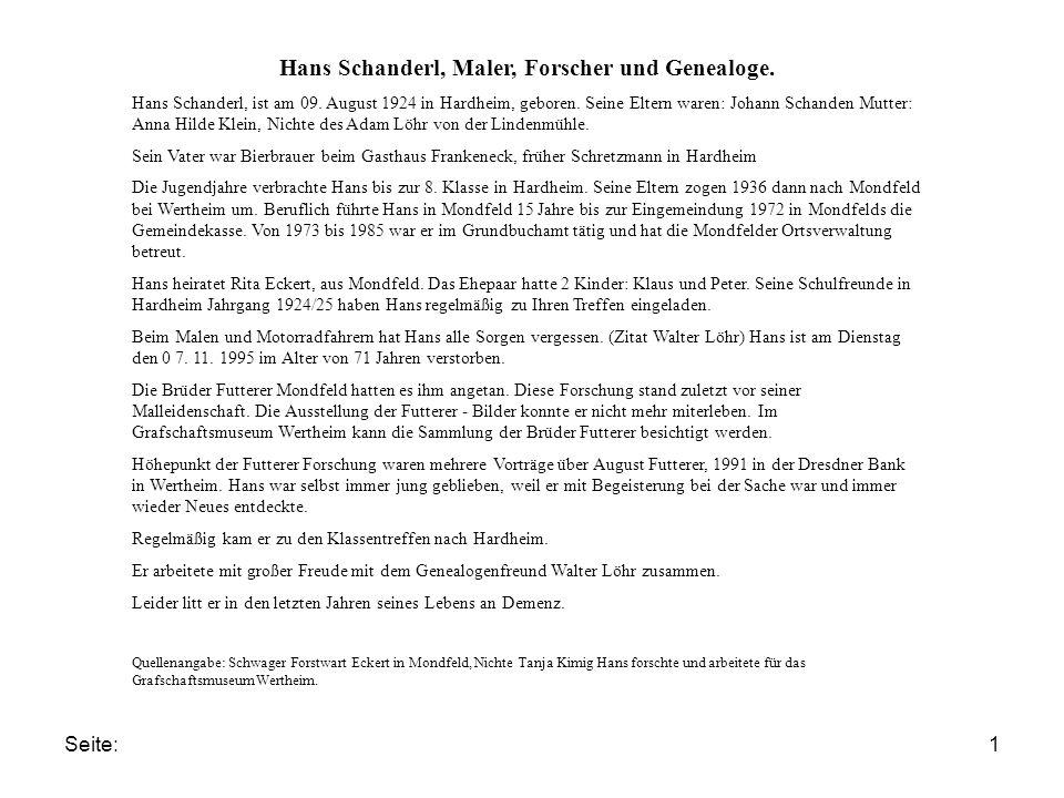 Seite:2 Hans Schanderl, Maler, Forscher und Genealoge.