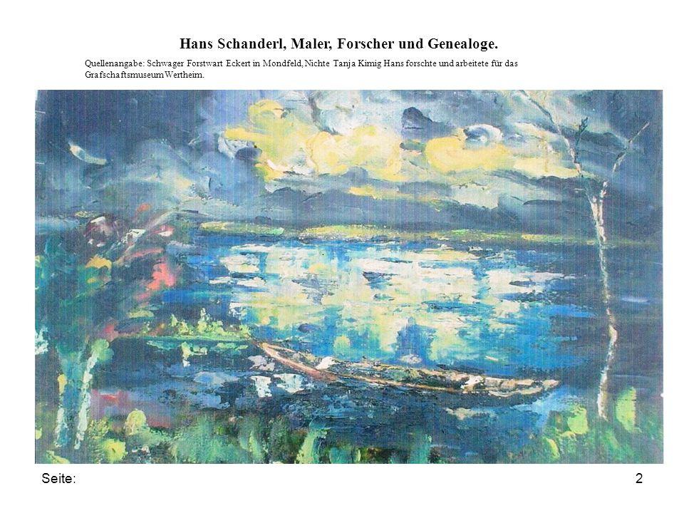 Seite:3 Hans Schanderl, Maler, Forscher und Genealoge.
