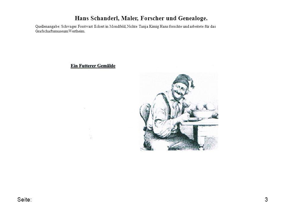 Seite:4 Hans Schanderl, Maler, Forscher und Genealoge.