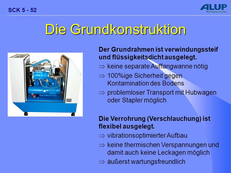 SCK 5 - 52 Die Grundkonstruktion Der Grundrahmen ist verwindungssteif und flüssigkeitsdicht ausgelegt.  keine separate Auffangwanne nötig  100%ige S