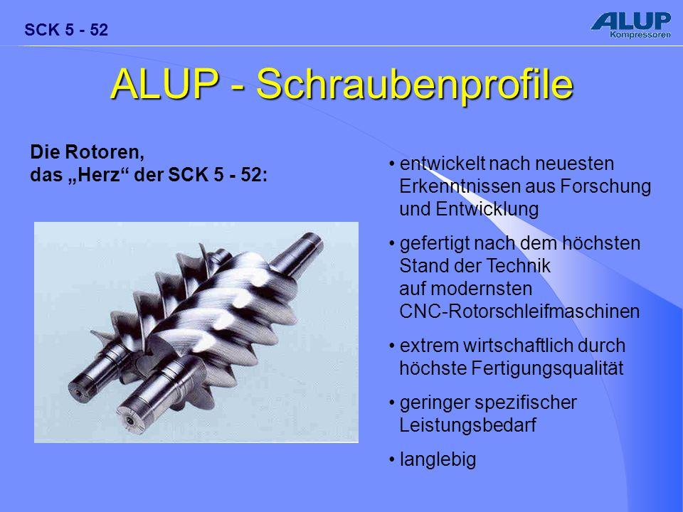 """SCK 5 - 52 ALUP - Schraubenprofile Die Rotoren, das """"Herz"""" der SCK 5 - 52: entwickelt nach neuesten Erkenntnissen aus Forschung und Entwicklung gefert"""