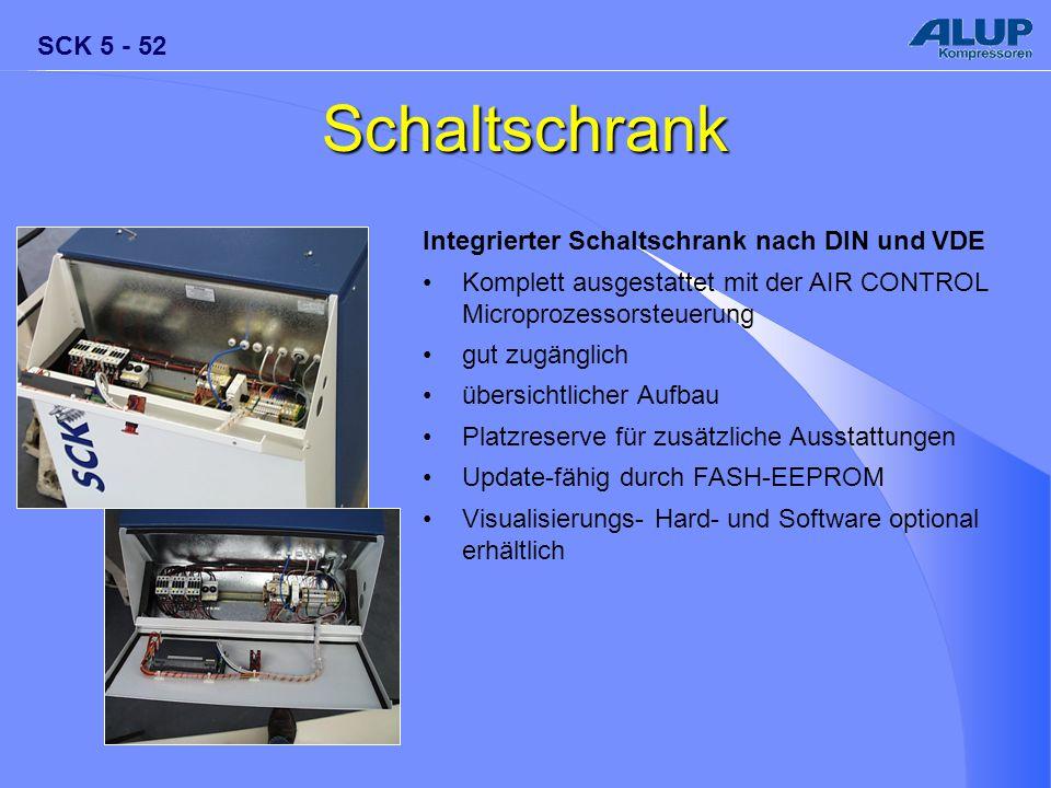 SCK 5 - 52 Schaltschrank Integrierter Schaltschrank nach DIN und VDE Komplett ausgestattet mit der AIR CONTROL Microprozessorsteuerung gut zugänglich