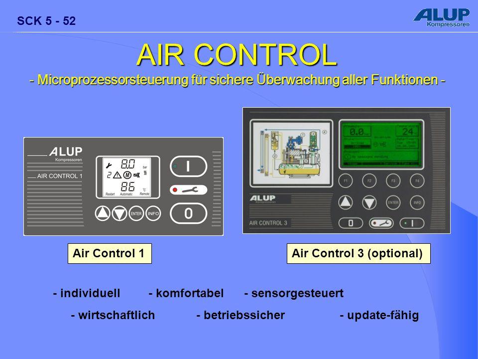 SCK 5 - 52 AIR CONTROL - Microprozessorsteuerung für sichere Überwachung aller Funktionen - - individuell- komfortabel- sensorgesteuert - wirtschaftli