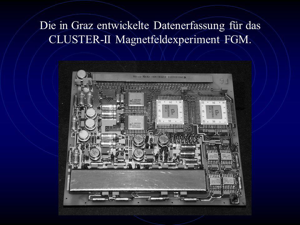 Die in Graz entwickelte Datenerfassung für das CLUSTER-II Magnetfeldexperiment FGM.